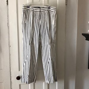 Black and white striped pants. Size 12 Loft